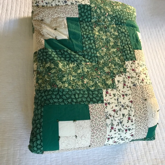 Hand Made Quilt Patchwork Queen/King 90x90 Cotton